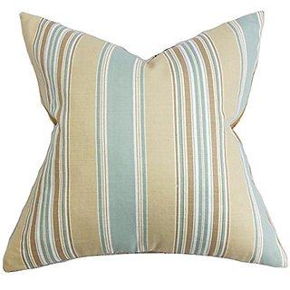 The Pillow Collection Hollis Stripes Pillow, Blue
