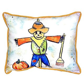 Betsy Drake Scarecrow Indoor/Outdoor Pillow, 20