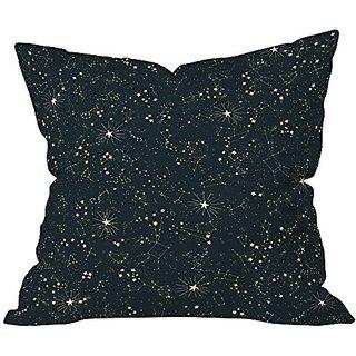 DENY Designs Joy Laforme Constellations In Midnight Blue Throw Pillow, 26 x 26