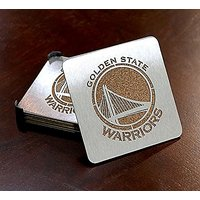 NBA Golden State Warriors Boasters, Heavy Duty Stainless Steel Coasters, Set Of 4
