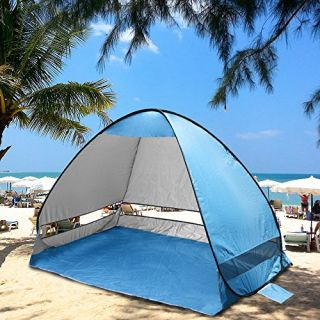 Kany Outdoor Automatic Pop up Instant Portable Cabana Beach Tent 2-3 Person Camping Fishing Hiking Picnicing Protective