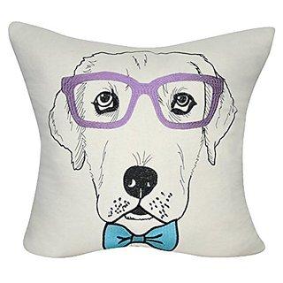 Loom & Mill P0488-2222P Cream Labrador Decorative Pillow, 22 x 22