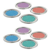 InterDesign Forma Coasters, Set Of 8, Assorted