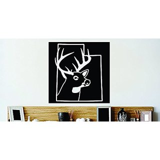 Design with Vinyl Decor Item Utah State Deer Buck Hunter Vinyl Wall Decal Sticker Decor Color : Black Size: 18 Inches X