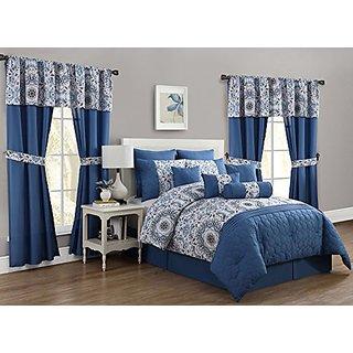 Avondale Manor Anita 20 Piece Comforter Set, Queen, Blue