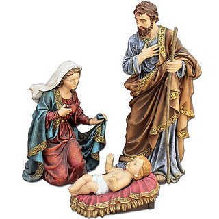 3 Figure Holy Family Nativity