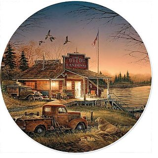 Total Comfort Country Store Scenic Coasters Set of 4 by Terry Redlin