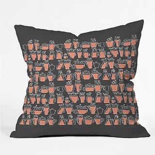DENY Designs Raven Jumpo Drinking Mugs Throw Pillow, 16 x 16