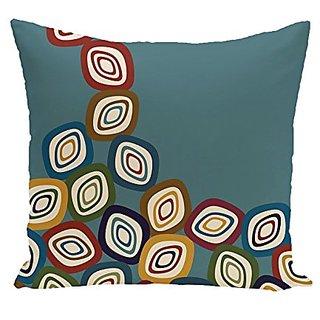 E By Design PGN372BL37-20 Falling Leaves Geometric Print Pillow, 20