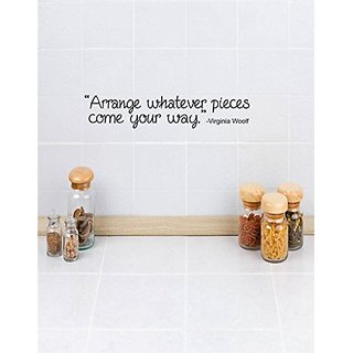 Design with Vinyl 3 C 2157 Decor Item Arrange Whatever Pieces Come Your Way Quote Wall Decal Sticker, 20 x 40-Inch, Blac