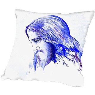 American Flat Jesus 2 Pillow by Suren Nersisyan, 20