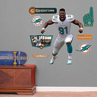 NFL Miami Dolphins Cameron Wake Flex Junior Wall Decal