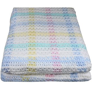 Prestige Home Textiles 17619-947 100-Percent Cotton Crib Size Blanket