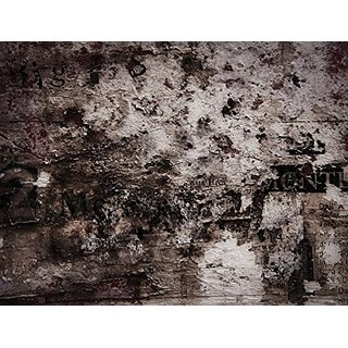 JP London PMUR2383 uStrip Peel and Stick Removable Decal Sticker Mural, Grunge Steampunk Grit Wall Abstract, 4 x 3-Feet