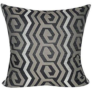 Loom & Mill P0375-2222P Taupe Geometric Decorative Pillow, 22 x 22