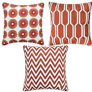 Shinnwa 3 Pcs Cotton Linen Accent Decorative Throw Pillow Covers Cushion Covers Assorted Colors for Couch 18