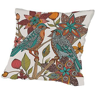American Flat Lovebirds Pillow by Valentina Ramos, 20