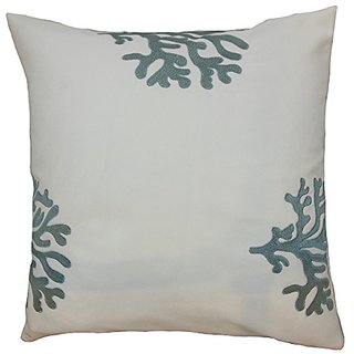 The Pillow Collection P18-ART-OAE-CORL-SPA-A100 Ziza Coastal Pillow, Grey