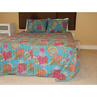 Comforter Set Twin Quilt Bedding (Blue)