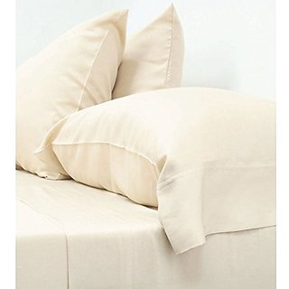 Bamboo Prince 4 pcs. 100% Bamboo Fiber Ivory Color Cal-King Size Bedsheet Set - Cool in summer, anti-baterial