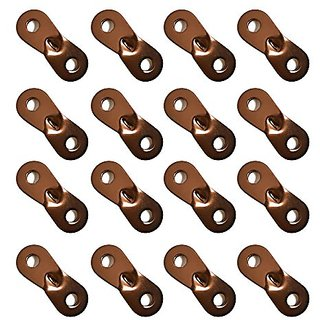 Bluecell Brown Color 16Pcs Aluminum Guyline Cord Adjuster for Tent Camping Hiking Backpacking Picnic Shelter Shade Canop