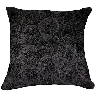 Thats Perfect! Concentric Flowers Decorative Silk Throw Pillow Sham - Fits 16