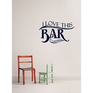 Design with Vinyl I Love This Bar Picture Art - Living Room - Peel & Stick Sticker - Vinyl Wall Decal Size : 20x20 Color