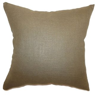 The Pillow Collection Cameo Plain Pillow, Hickory