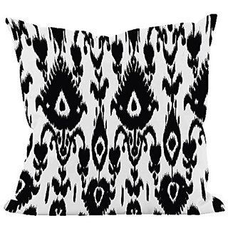 E By Design PI-N1-Black-26 Ikat Decorative Pillow, 26-Inch, Black