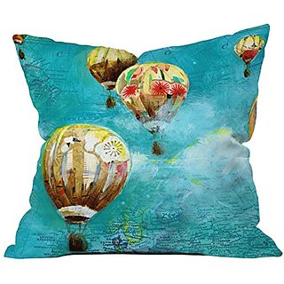 DENY Designs Land Of Lulu Herd Of Balloons 2 Throw Pillow, 16 x 16