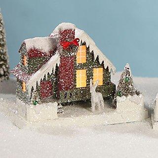 Bethany Lowe Medium Village House, Green Siding