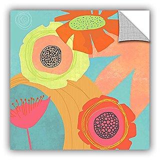ArtWall Jan Weiss Feeling Like Aqua Appeelz Removable Graphic Wall Art, 14 by 14
