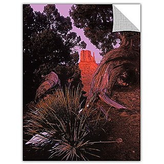 ArtWall ArtApeelz Dean Uhlinger Thors Hammer Impression Removable Wall Art Graphic, 14 by 18-Inch