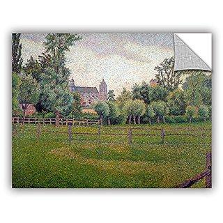 ArtWall Camille Pissarros Church At Gisors Removable Wall Art Mural, 14 x 18