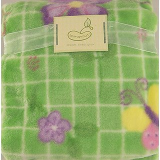 Butterfly Kisses High Pile Crib Throw Blanket