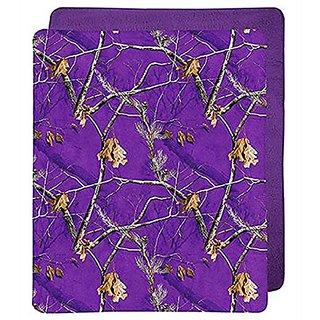 APC Purple Camouflage Throw Blanket