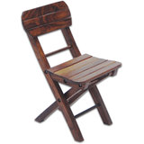 Small Mini Foldable Folding Wooden Chair Kids Kid School Study Bank Furniture