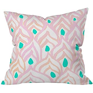 DENY Designs Rebecca Allen Princess Peacock Throw Pillow, 18 x 18