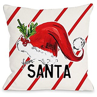 Bentin Home Decor From Santa Hat Throw Pillow by Timree Gold, 18