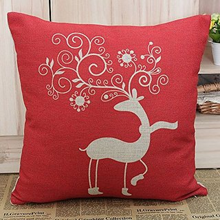 Ambox Beige Cotton Blend Linen Square Decorative Throw Pillow Covers - Indoors or Outdoors Cushion Cases, 18