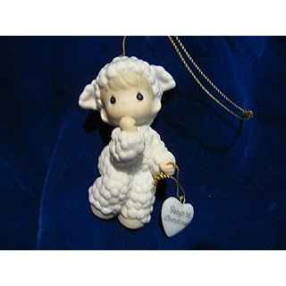 Precious Moment Baby Boys First Christmas 1999 Ornament