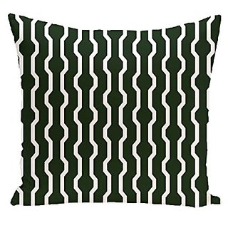 E By Design PHGN276GR26-18 Nuts & Bolts Decorative Holiday Geometric Print Pillow, 18