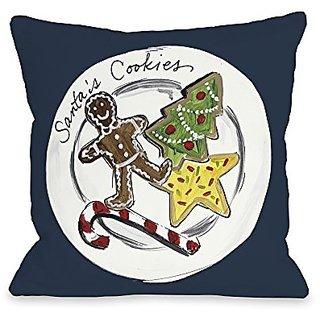 Bentin Home Decor Santas Cookies Throw Pillow by Timree Gold, 20