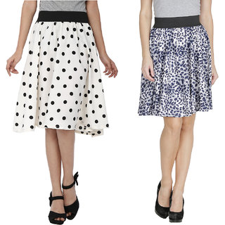 Mainsa Crepe A-Line Skirt