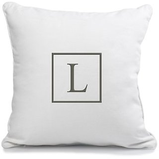 Cathys Concepts Personalized Square Accented Throw Pillow, Letter L