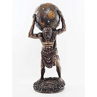 Primordial Titan Atlas Bearing Weight Of The Globe Figurine Gaia Ouranus Olympian War Sculpture