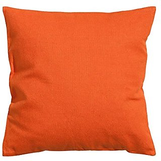 Solid Bright Orange Cushion Cover 100% Cotton Twill Throw Pillow Cover Cushion (20 x 20