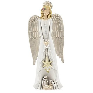 Grasslands Road Angel Figurine with Holy Family Skirt
