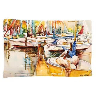 Carolines Treasures JMK1042PILLOWCASE Sailboat with Pelican Golden Days Fabric Standard Pillowcase, Large, Multicolor