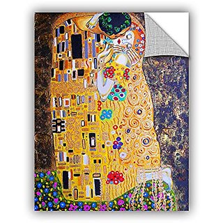 ArtWall Susi Francos My Klimt Kiss Art Appeelz Removable Graphic Wall Art, 14 by 18